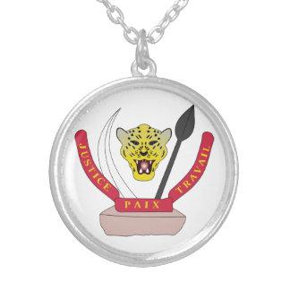 Democratic Republic Of The Congo Coat Of Arms Necklace