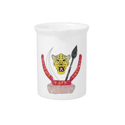 Democratic Republic Of The Congo Coat Of Arms Drink Pitcher