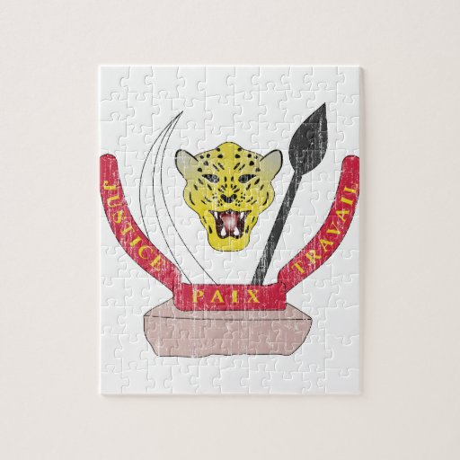 Democratic Republic Of The Congo Coat Of Arms Jigsaw Puzzle