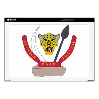 Democratic Republic of the Congo Coat of Arms Laptop Decal