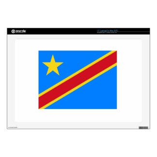 "Democratic Republic Of The Congo Flag 17"" Laptop Skins"