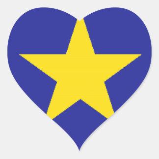 Democratic Republic of the Congo Flag Heart Sticker