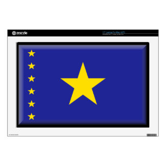 "Democratic Republic of the Congo Flag Decals For 17"" Laptops"