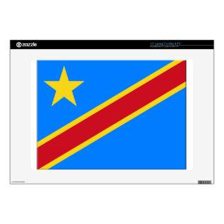 "Democratic Republic of the Congo Flag 15"" Laptop Skin"