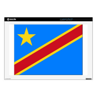 "Democratic Republic of the Congo Flag Skins For 17"" Laptops"