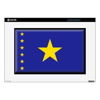 "Democratic Republic of the Congo Flag 15"" Laptop Decal"