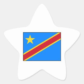 Democratic Republic of the Congo Flag Star Stickers