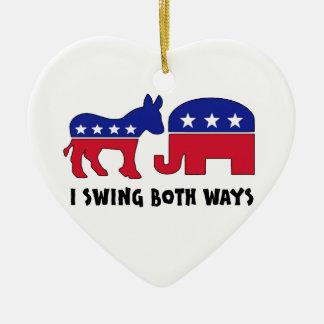 Democratic Republican Swing Voter (2) Ceramic Ornament