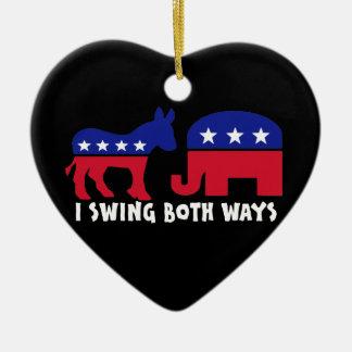 Democratic Republican Swing Voter Ceramic Ornament