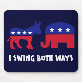 Democratic Republican Swing Voter Mouse Pad