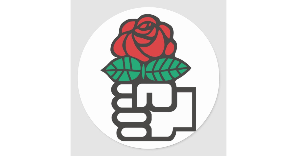Democratic Socialism The Fist And Rose Symbol Classic Round