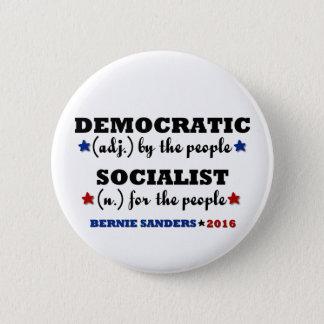 Democratic Socialist Bernie Sanders Button
