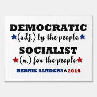 Democratic Socialist Bernie Sanders Lawn Sign