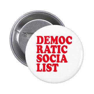 Democratic Socialist Pinback Buttons