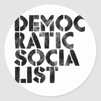 Democratic Socialist Classic Round Sticker
