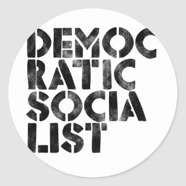 Queen_and_King Democratic Socialist Classic Round Sticker