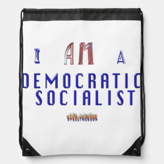 Democratic Socialist Drawstring Bag