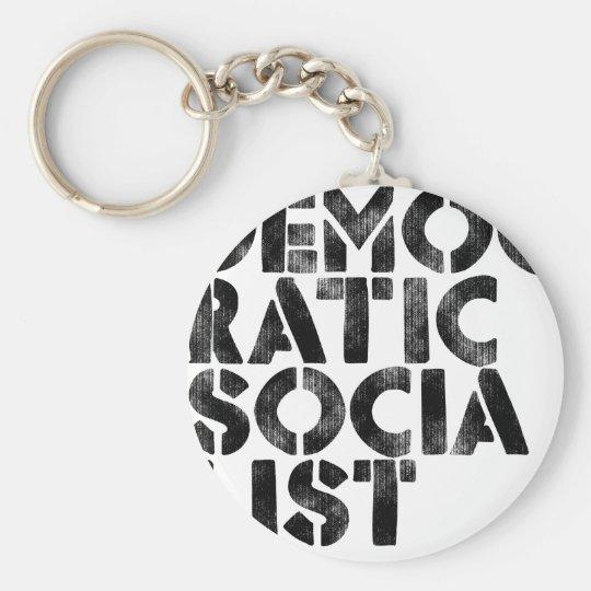 Democratic Socialist Keychain