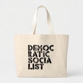 Democratic Socialist Large Tote Bag
