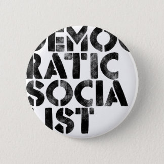 Democratic Socialist Pinback Button