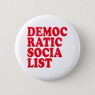 Democratic Socialist Pinback Button
