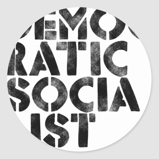 Democratic Socialist Round Stickers