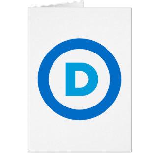 Democratic Tarjeta De Felicitación