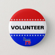 Democratic Volunteer Pinback Button