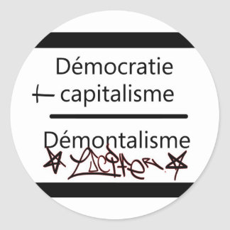 démocratie plus classic round sticker