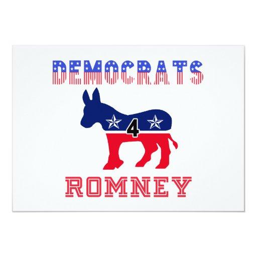 Democrats 4 Romney Card