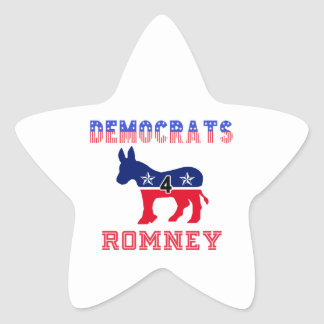 Democrats 4 Romney Star Sticker