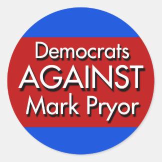 Democrats Against Mark Pryor Stickers