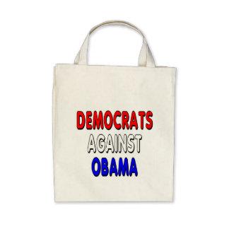Democrats against Obama Canvas Bag