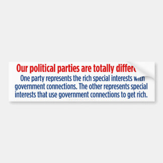 Democrats and Republicans In A Nutshell Car Bumper Sticker