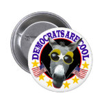 DEMOCRATS ARE COOL PINBACK BUTTON