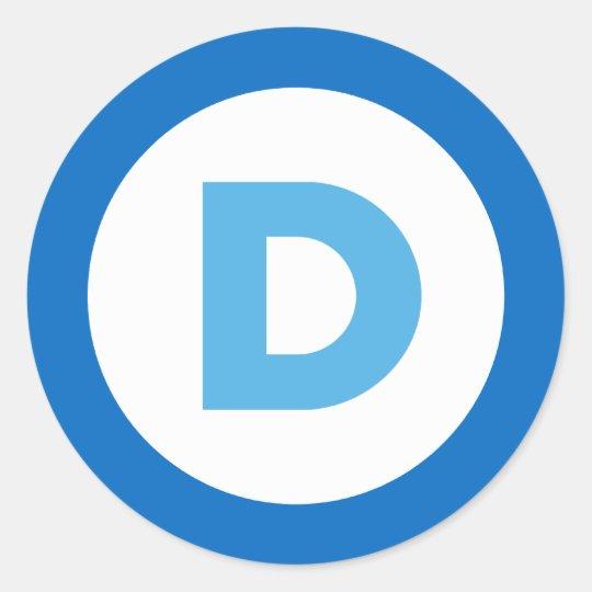 Democrats Classic Round Sticker