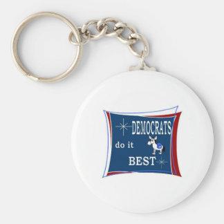 democrats do it best keychain