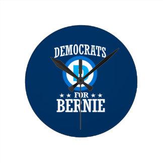 DEMOCRATS FOR BERNIE SANDERS ROUND CLOCK