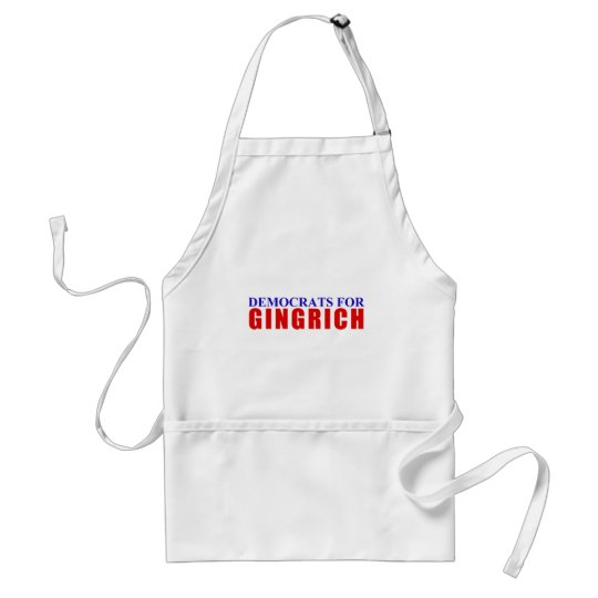 Democrats For Gingrich Adult Apron