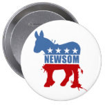 Democrats for Newsom Buttons
