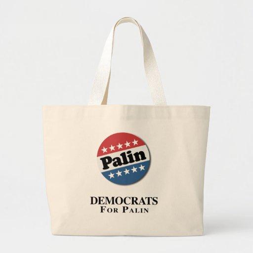 DEMOCRATS FOR PALIN TOTE BAG