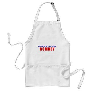 Democrats for Romney Adult Apron