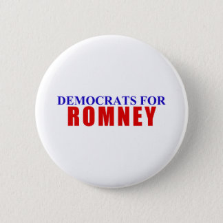 Democrats for Romney Button