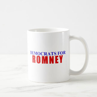 Democrats for Romney Classic White Coffee Mug