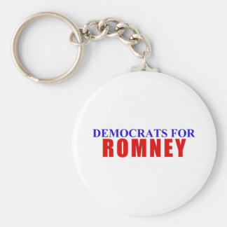 Democrats for Romney Keychain