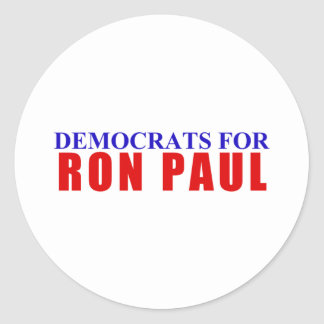 Democrats for Ron Paul Classic Round Sticker