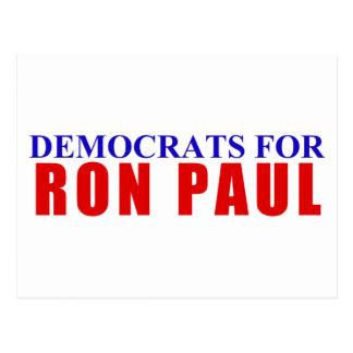 Democrats for Ron Paul Postcard
