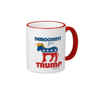 Democrats for Trump 2016 Ringer Mug