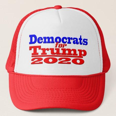 DEMOCRATS FOR TRUMP 2020 MAGA GEAR TRUCKER HAT