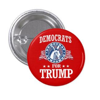 DEMOCRATS FOR TRUMP PINBACK BUTTON
